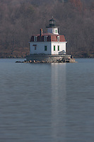 The Esopus Meadows Lighthouse on the Hudson River near Port Ewen, New York