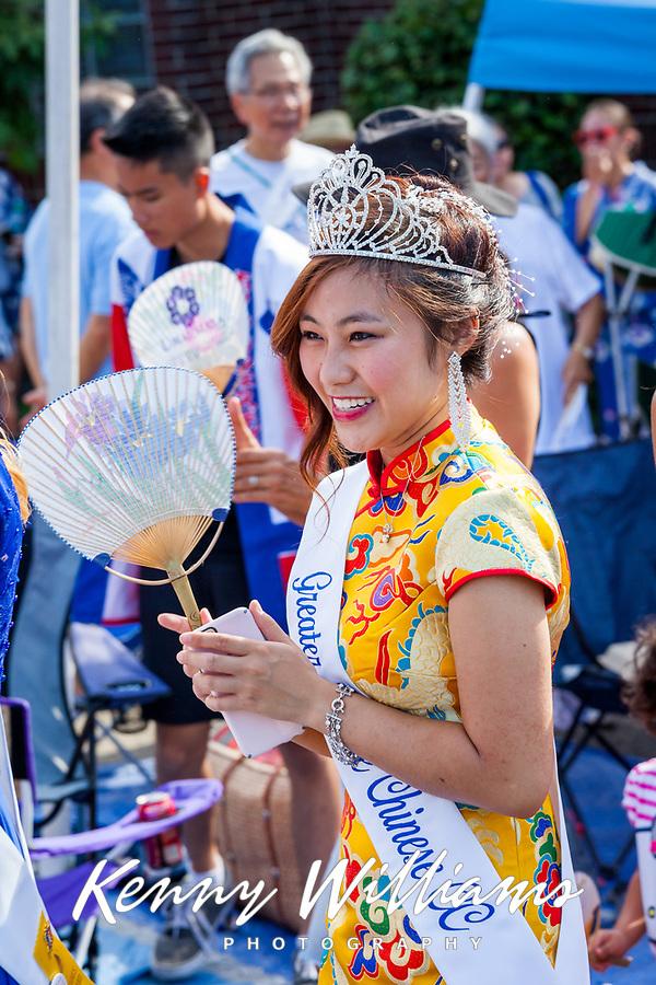 Nella Kwan, Miss Chinese Seattle, Bon Odori Festival 2015, Seattle, Washington, USA.