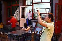 CHINA. Beijing. Shoppers on the Wangfujing shopping street in central Beijing. 2006.