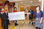 Cheque Presentation: The proceeds of a Walk from Moyvane to Tralee which raised €5190.00 for the Kerry Mental  Health Service was presented at the Listowel Centre on Tuesday 22nd December by Margaret Foley. L- R: Margaret Foley, Mary O'Donnell, Aidan Murphy & Maeve Crowley.