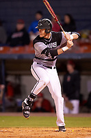 Wisconsin-Milwaukee Panthers first baseman Mike Jordahl (32) at bat during a game against the Ball State Cardinals on February 26, 2016 at Chain of Lakes Stadium in Winter Haven, Florida.  Ball State defeated Wisconsin-Milwaukee 11-5.  (Mike Janes/Four Seam Images)