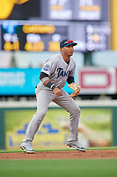 Tampa Tarpons third baseman Roberto Chirinos (14) during Game One of the Low-A Southeast Championship Series against the Bradenton Marauders on September 21, 2021 at LECOM Park in Bradenton, Florida.  (Mike Janes/Four Seam Images)