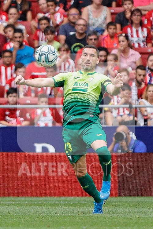 Anaitz Arbilla of SD Eibar in action during La Liga match between Atletico de Madrid and SD Eibar at Wanda Metropolitano Stadium in Madrid, Spain.September 01, 2019. (ALTERPHOTOS/A. Perez Meca)