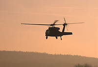 """- US Army """"Blackhawk"""" helicopter  during NATO exercises in Germany<br /> <br /> - elicottero """"Blackhawk"""" dell'US Army  durante esercitazioni NATO in Germania"""