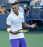 August 29,2019:  Nick Kyrgios (AUS) defeated Antoine Hoang (FRA) 6-4, 6-2, 6-4, at the US Open being played at Billie Jean King National Tennis Center in Flushing, Queens, NY.  ©Jo Becktold/CSM