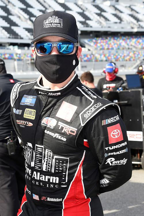 #4: John Hunter Nemechek, Kyle Busch Motorsports, Toyota Tundra Fire Alarm Services