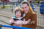 Enjoying a stroll in the Listowel town park on Sunday, l to r: Little Gracelyn and Lerise Coffey.