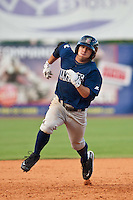 Erik Komatsu of the Brevard County Manatees during the game at Jackie Robinson Ballpark in Daytona Beach, Florida on August 23, 2010. Photo By Scott Jontes/Four Seam Images