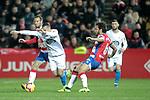 Real Club Deportivo de la Coruña's Quique Gonzalez and Granada CF's German Sanchez during La Liga 2 match. February 10,2019. (ALTERPHOTOS/Alconada)
