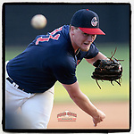 Collin Fowler (21) of the Greer Warhawks delivers a pitch in a South Carolina American League game against Easley on Thursday, July 16, 2020, at Stevens Field in Greer, South Carolina. Greer won, 9-4. (Tom Priddy/Four Seam Images)