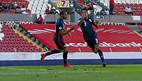 GUADALAJARA, MEXICO - MARCH 18: Jesus Ferreira #9 of the United States celebrates his goal before a game between Costa Rica and USMNT U-23 at Estadio Jalisco on March 18, 2021 in Guadalajara, Mexico.