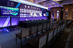 The setup of the press conference for the Premier League Asia Trophy 2017 at the Grand Hyatt Hong Kong on 01 June 2017 in Hong Kong, China. Photo by Chris Wong / Power Sport Images