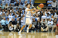 CHAPEL HILL, NC - NOVEMBER 01: Cole Anthony #2 of the University of North Carolina passes the ball during a game between Winston-Salem State University and University of North Carolina at Dean E. Smith Center on November 01, 2019 in Chapel Hill, North Carolina.