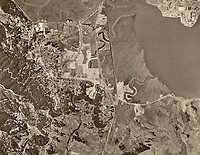 historical aerial photo map of Corte Madera and Larkspur, Marin County, California, 1952
