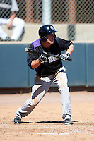 Colorado Rockies minor league outfielder David Kandilas #52 during an instructional league intrasquad game at the Salt River Flats Complex on October 5, 2012 in Scottsdale, Arizona.  (Mike Janes/Four Seam Images)