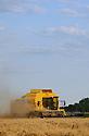 15/07/07 - LIMAGNE - PUY DE DOME - FRANCE - Moissons de ble tendre en Limagne. NEW HOLLAND TX 66 - Photo Jerome CHABANNE