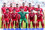 Players of Bahrain line up and pose for photos prior to the AFC Asian Cup UAE 2019 Group A match between Bahrain (BHR) and Thailand (THA) at Al Maktoum Stadium on 10 January 2019 in Dubai, United Arab Emirates. Photo by Marcio Rodrigo Machado / Power Sport Images