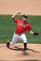 Erie Seawolves relief pitcher Austin Kubitza (45) delivers a pitch during a game against the Altoona Curve on July 10, 2016 at Jerry Uht Park in Erie, Pennsylvania.  Altoona defeated Erie 7-3.  (Mike Janes/Four Seam Images)
