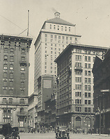 A glimpse of St. James St.; Montreal; which is sometimes called The Wall Street of Canada. The tall building in centre is the new Royal Bank<br /> <br /> [unknown]<br /> Picture, 1931, <br /> <br /> PHOTO : Toronto Star Archives - AQP