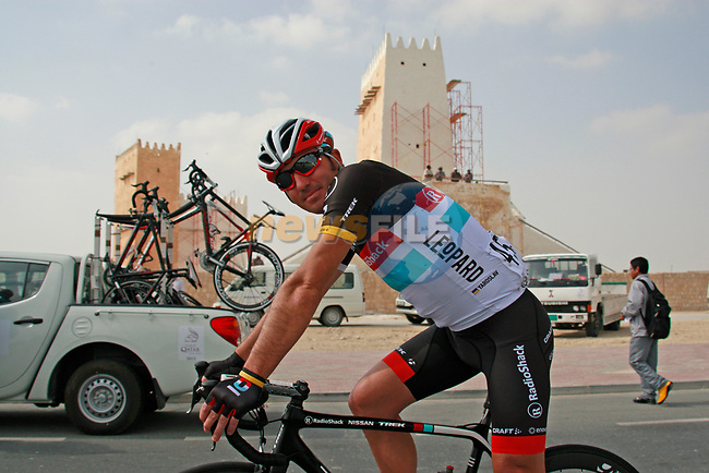 Yaroslav Popovych (UKR) Radioshack-Nissan Trek before the start of Stage 1 of the Tour of Qatar 2012 running 142.5km from Barzan Towers to Doha Golf Club, Doha, Qatar. 5th February 2012.<br /> (Photo by Eoin Clarke/NEWSFILE).