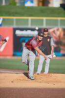 Sacramento River Cats starting pitcher Brandon Beachy (35) throws before the game against the Salt Lake Bees at Smith's Ballpark on July 18, 2019 in Salt Lake City, Utah. The Bees defeated the River Cats 9-6. (Stephen Smith/Four Seam Images)
