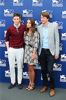 From left, Eddie Redmayne, Alicia Vikander and Matthias Schoenaerts attend the photocall for the movie 'The Danish Girl' during 72nd Venice Film Festival at the Palazzo Del Cinema in Venice, Italy, September 5, 2015. <br /> UPDATE IMAGES PRESS/Stephen Richie