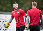 St Johnstone Training…22.09.17<br />Keeper Alan Mannus pictured during training ahead of tomorrow's game against Hamilton<br />Picture by Graeme Hart.<br />Copyright Perthshire Picture Agency<br />Tel: 01738 623350  Mobile: 07990 594431