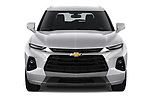 Car photography straight front view of a 2020 Chevrolet Blazer Premier 5 Door SUV Front View