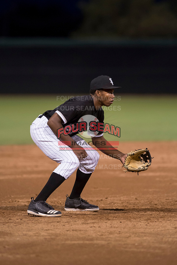 AZL White Sox third baseman Bryce Bush (61) during an Arizona League game against the AZL Athletics at Camelback Ranch on July 15, 2018 in Glendale, Arizona. The AZL White Sox defeated the AZL Athletics 2-1. (Zachary Lucy/Four Seam Images)