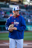 South Bend Cubs pitcher Duncan Robinson (29) before a game against the Clinton LumberKings on May 5, 2017 at Four Winds Field in South Bend, Indiana.  South Bend defeated Clinton 7-6 in nineteen innings.  (Mike Janes/Four Seam Images)