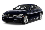 2015 BMW 4 Series 435i Gran Coupe 5 Door Hatchback Angular Front stock photos of front three quarter view