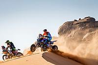4th January 2021; Dakar Rally stage 2;  #150 Cavigliasso Nicolas (arg), Yamaha, Dragon Rally Team, Motul, Quad, action during the 2nd stage of the Dakar 2021 between Bisha and Wadi Al Dawasir, in Saudi Arabia on January 4, 2021