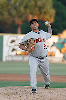 Frederick Keys pitcher Jhonathan Ramos (29) in action during a game against the Myrtle Beach Pelicans at Ticketreturn.com Field at Pelicans Ballpark on May 21, 2015 in Myrtle Beach, South Carolina.  Frederick defeated Myrtle Beach 4-3. (Robert Gurganus/Four Seam Images)