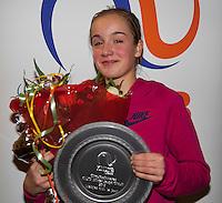 Almere, Netherlands, December 6, 2015, Winter Youth Circuit, Overall Winner girls 14 years: Julie Belgraven<br /> Photo: Tennisimages/Henk Koster