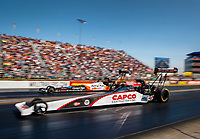 Sep 2, 2017; Clermont, IN, USA; NHRA top fuel driver Steve Torrence (near) races alongside Clay Millican during qualifying for the US Nationals at Lucas Oil Raceway. Mandatory Credit: Mark J. Rebilas-USA TODAY Sports