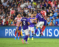 Orlando, FL - Wednesday July 31, 2019:  Paxton Pomykal #12 during the Major League Soccer (MLS) All-Star match between the MLS All-Stars and Atletico Madrid at Exploria Stadium.