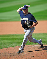 23 August 2009: Milwaukee Brewers' relief pitcher David Weathers on the mound against the Washington Nationals at Nationals Park in Washington, DC. The Nationals defeated the Brewers 8-3 to take the third game of their four-game series, snapping a five games losing streak. Mandatory Credit: Ed Wolfstein Photo