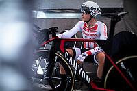 Tim Merlier (BEL/Corendon Circus) awaits his turn to start his TT. <br /> <br /> Baloise Belgium Tour 2019<br /> Stage 3: ITT Grimbergen – Grimbergen 9.2km<br /> ©kramon