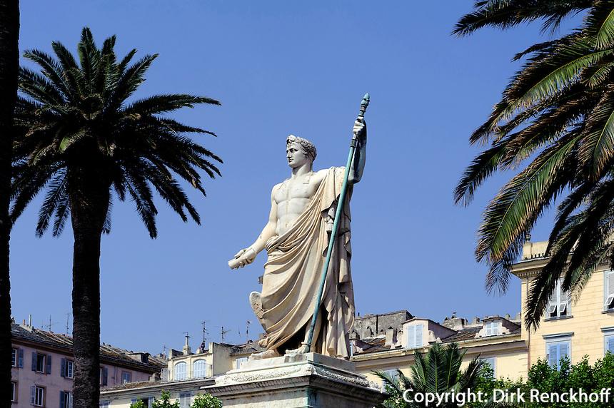 Denkmal Napoleon Bonaparte auf der Place Saint Nicolas in Bastia, Korsika, Frankreich