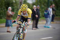 Laurens ten Dam (NLD/LottoNL-Jumbo) cheered on in the finale as he tries hard to get back into the peloton<br /> <br /> 101th Liège-Bastogne-Liège 2015