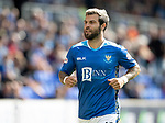 St Johnstone v Dundee…25.08.18…   McDiarmid Park     SPFL<br />Richie Foster<br />Picture by Graeme Hart. <br />Copyright Perthshire Picture Agency<br />Tel: 01738 623350  Mobile: 07990 594431
