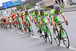 The peloton lined out with Bardisni CSF on the front during the closing kilometres of Stage 7 of the 2015 Presidential Tour of Turkey running 166km from Selcuk to Izmir. 2nd May 2015.<br /> Photo: Tour of Turkey/Mario Stiehl/www.newsfile.ie