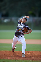 Dutch Landis during the WWBA World Championship at the Roger Dean Complex on October 19, 2018 in Jupiter, Florida.  Dutch Landis is a right handed pitcher from Henderson, Nevada who attends Bishop Gorman High School and is committed to Arizona.  (Mike Janes/Four Seam Images)