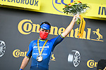 Mark Cavendish (GBR) Deceuninck-Quick Step wins Stage 6 of the 2021 Tour de France, running 160.6km from Tours to Chateauroux, France. 1st July 2021.  <br /> Picture: A.S.O./Charly Lopez | Cyclefile<br /> <br /> All photos usage must carry mandatory copyright credit (© Cyclefile | A.S.O./Charly Lopez)