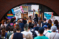 Pittsburgh action for Black trans and LBQIA+ lives held a protest in front of 941 Saloon due to what is perceived as racist dress codes on Liberty Avenue in downtown on Wednesday June 24, 2020 in Pittsburgh, Pennsylvania. (Photo by Jared Wickerham/Pittsburgh City Paper)