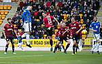 St Johnstone v St Mirren…27.10.18…   McDiarmid Park    SPFL<br />Tony Watt's header is aved by Craig Samson<br />Picture by Graeme Hart. <br />Copyright Perthshire Picture Agency<br />Tel: 01738 623350  Mobile: 07990 594431