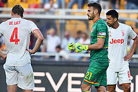 Gabriel of US Lecce celebrates at the end of match as De Ligt  and Can seem dejected <br /> Lecce 26-10-2019 Stadio Via del Mare <br /> Football Serie A 2019/2020 <br /> US Lecce - FC Juventus<br /> Photo Carmelo Imbesi / Insidefoto