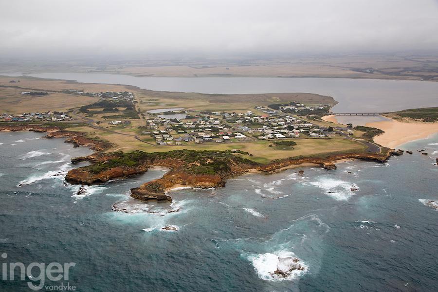 Aerial view of Princetown, Great Ocean Road