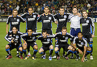 21 March 2009: San Jose Earthquakes starting XI pose together for the picture before the game against the Revolution at Buck Shaw Stadium in Santa Clara, California. New England Revolution defeated Earthquakes, 1-0.