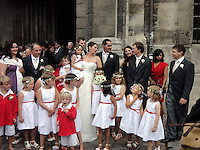 PICTURE RE-FILED, PLEASE SEE IMPORTANT LEGAL NOTICE IN THE SPECIAL INSTRUCTIONS FIELD<br /> Pictured: Richard Osman (C) at his wedding<br /> Re: The British passenger on board EgyptAir flight MS804 which crashed into the Mediterranean has been named locally as Richard Osman.<br /> The doctor's son, 41, grew up in Carmarthen and was believed to be flying to work for a gold mining company in Egypt when the plane vanished.<br /> He was a geologist with a two-year-old daughter and worked for exploration and research companies which involved him travelling widely around the world.<br /> There were believed to be 30 Egyptians, 15 French, two Iraqis, and one each from the UK, Belgium, Kuwait, Saudi Arabia, Sudan, Chad, Portugal, Algeria and Canada among the 66 passengers on board the flight.